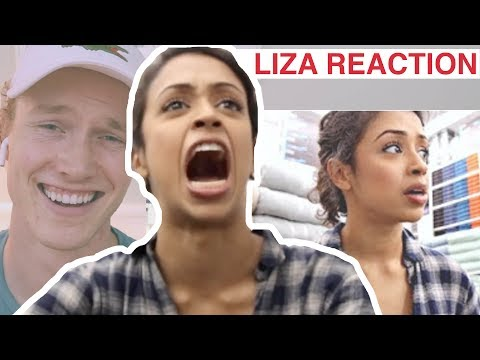Reacting to Liza Koshy I WAS CAUGHT IN BED... BATH AND BEYOND WITH LIZA!