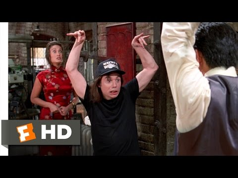 Wayne's World 2 (7/10) Movie CLIP - Fighting Cassandra's Dad (1993) HD