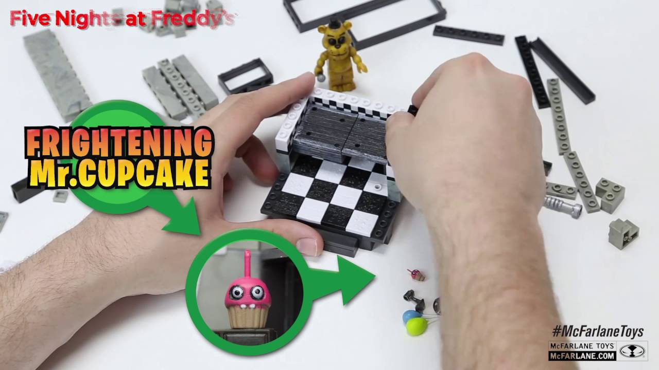 five nights at freddys the office construction set build video from mcfarlane toys build office video