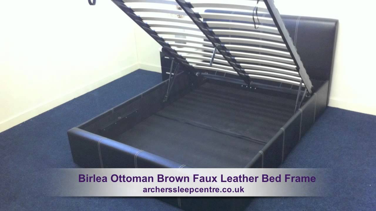Birlea Ottoman Brown Faux Leather Bed Frame Youtube