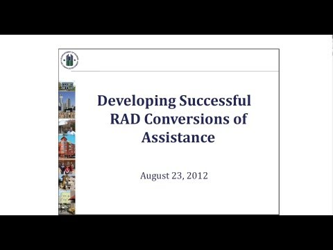 Rental Assistance Demonstration (RAD) Forum