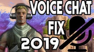How to fix voice chat in fortnite 2019 (voice chat not working fix)