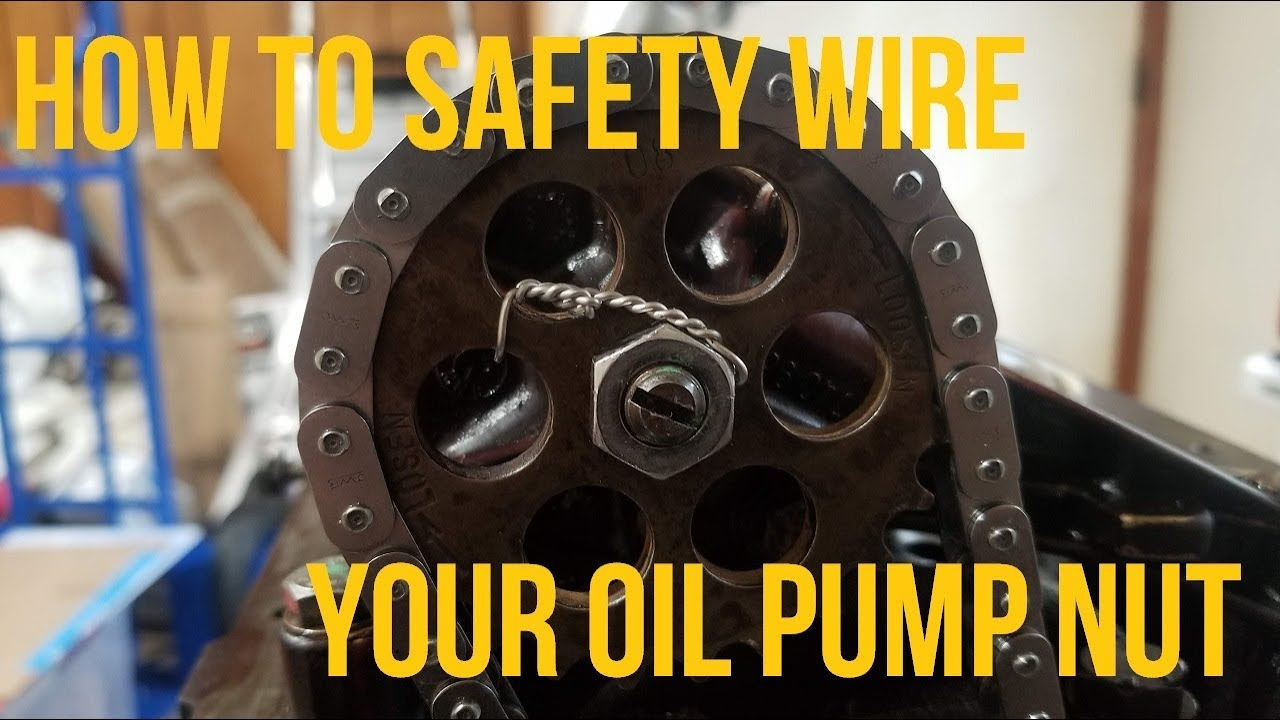 How To Safety Wire An Oil Pump Nut On Your BMW E36 And E46