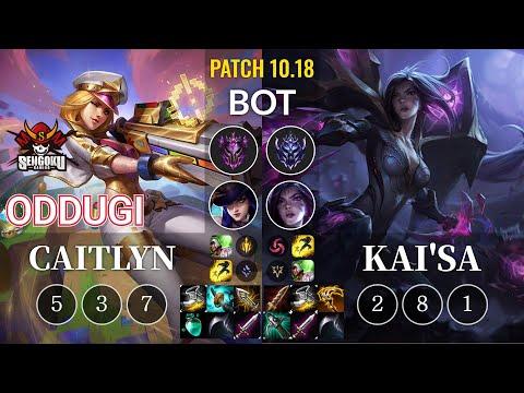 SG OdduGi Caitlyn vs Kai'Sa Bot - KR Patch 10.18