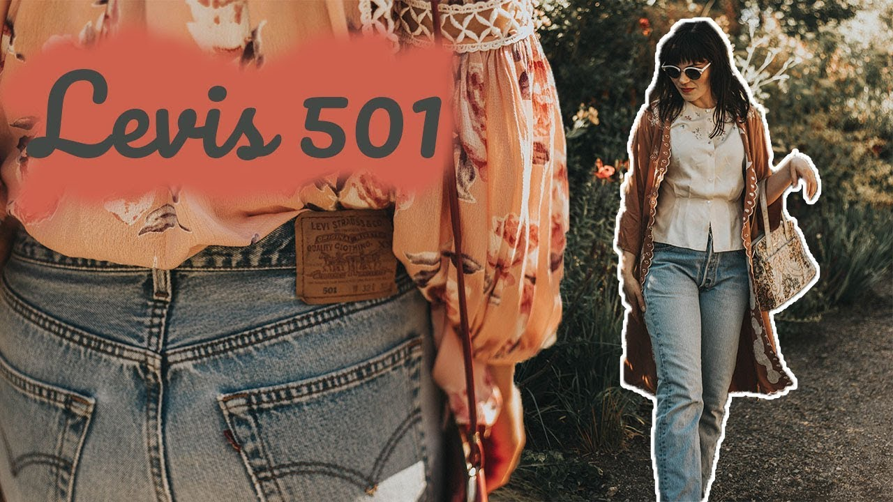 fd77f7eefbd How To Wear Levis 501 Mom Jeans - Authentic Vintage!! - YouTube
