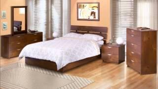 Nexera 401219 Nocce Platform Bed With Headboard, Queen, Truffle