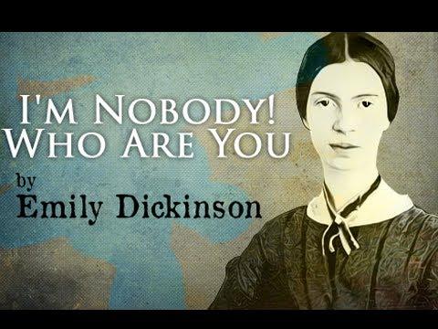 emily dickinson i am a nobody