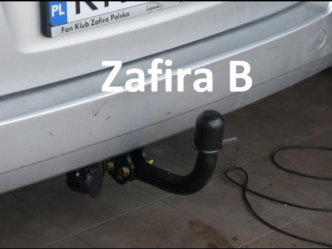 how to fit install towbar vauxhall opel zafira b hak. Black Bedroom Furniture Sets. Home Design Ideas