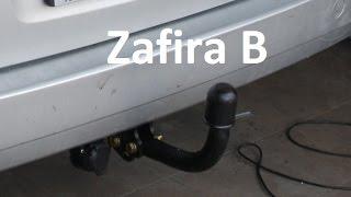 How to fit, install towbar - Vauxhall Opel Zafira B - hak Фаркоп ahk attelage remorque