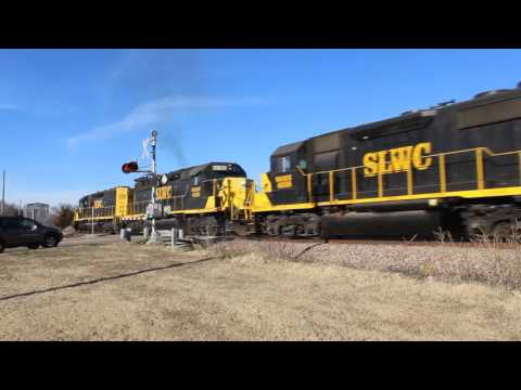 SLWC northbound freight, Lawton, Oklahoma 2.10.2017