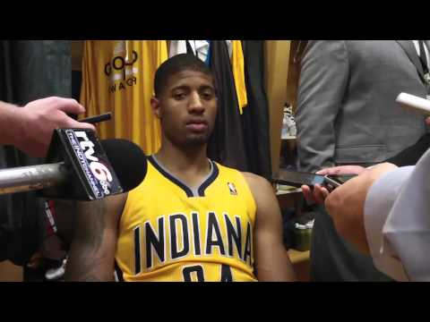VIDEO: Pacers Paul George and Roy Hibbert talk playoffs