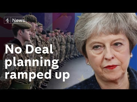 UK ramps up no deal Brexit preparations – troops on standby