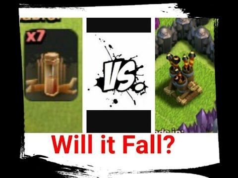 Clash of Clans  x7 Earthquake Spell vs Air Defense