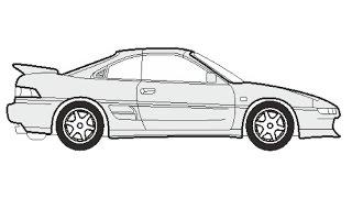 How to Draw a Toyota MR2 / Как нарисовать Toyota MR2