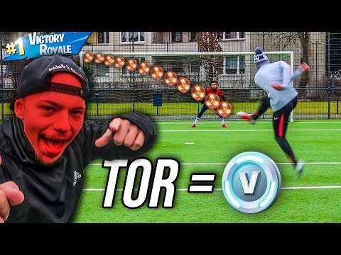 ULTIMATIVE FORTNITE FUßBALL CHALLENGE! 1 TOR = 1000 V-BUCKS