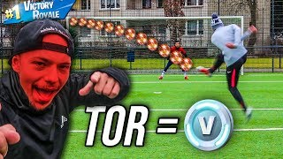 ULTIMATE FORTNITE FOOTBALL CHALLENGE! 1 TOR = 1000 V-BUCKS