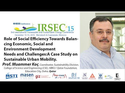 Prof. Muammer Koç, Keynote Speaker in IRSEC'15