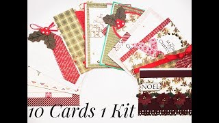10 Cards 1 kit Crafty Ola Store Card kit of the Month November 39 18 39 39 Merry Little Christmas 39 39