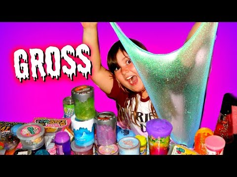 HUGE STORE BOUGHT SLIME SMOOTHIE ~ MIXING ALL MY STORE BOUGHT SLIME COLLECTION TOGETHER