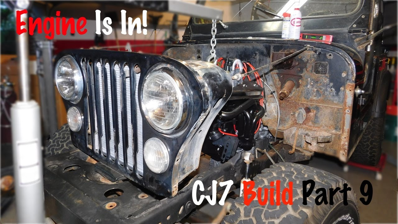 motor mounts welded and engine is in jeep cj7 build part 9 [ 1280 x 720 Pixel ]
