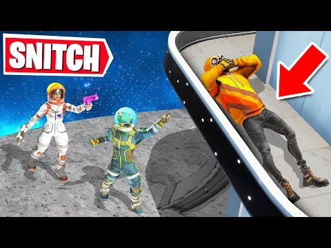 Playing SNITCH HIDE & SEEK In SPACE! (Fortnite Creative)