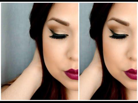 Maquillaje Dorado Y Labios Vino Youtube