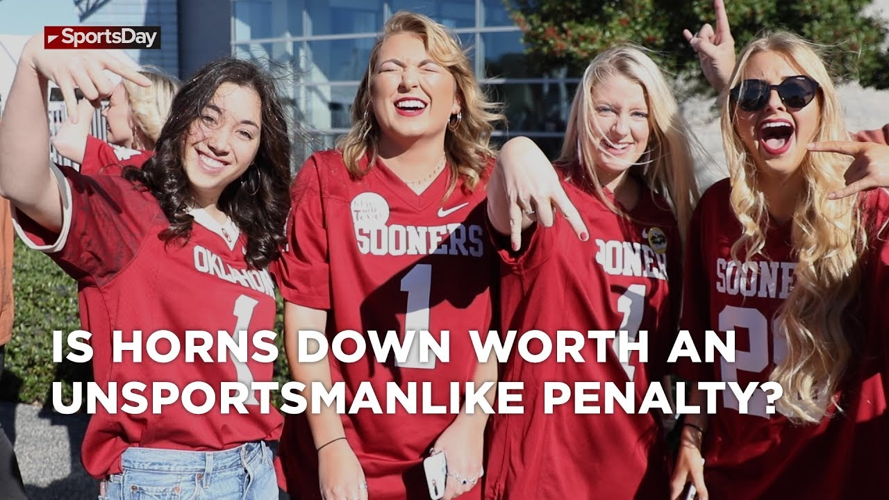 is-horns-down-worth-an-unsportsmanlike-penalty-big-12-championship