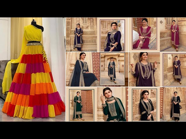 Partywear Lehenga Choli/Mehandi Sangeet Lehenga Choli/Designer Embroidered Salwar Suit/15 April 2021