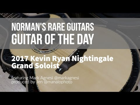Norman's Rare Guitars - Guitar of the Day: 2017 Kevin Ryan Nightingale Grand Soloist