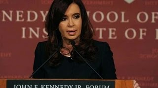 Argentina President Cristina Kirchner Mocks Students at Harvard
