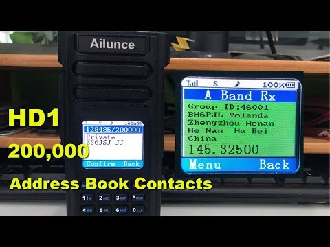 How to import digital contacts into Ailunce HD1