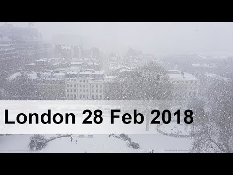 Beast from the East - London snow Feb 2018