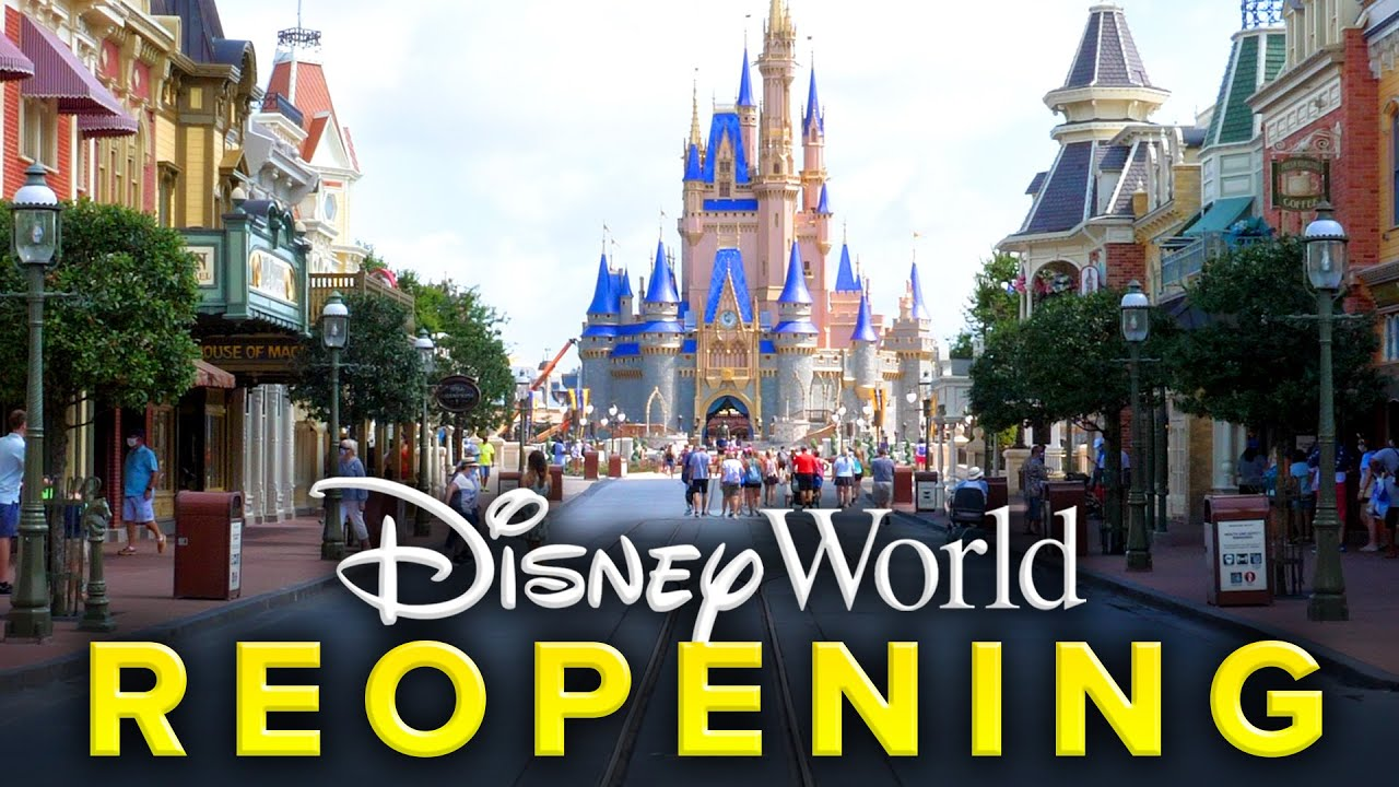 Disney World's Magic Kingdom REOPENING PREVIEW | Rose Gold Castle UP CLOSE!