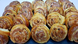 БУЛОЧКИ ДРОЖЖЕВЫЕ с ОРЕХАМИ и ИЗЮМОМ yeast buns with nuts and raisins