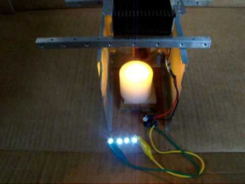 Joule Thief  Thermal Electric Generator, Energy Harvesting from a Candle
