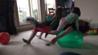 Weight loss. Ball exercise.Зарядка для похудения. Упражнения для спины с мячом .