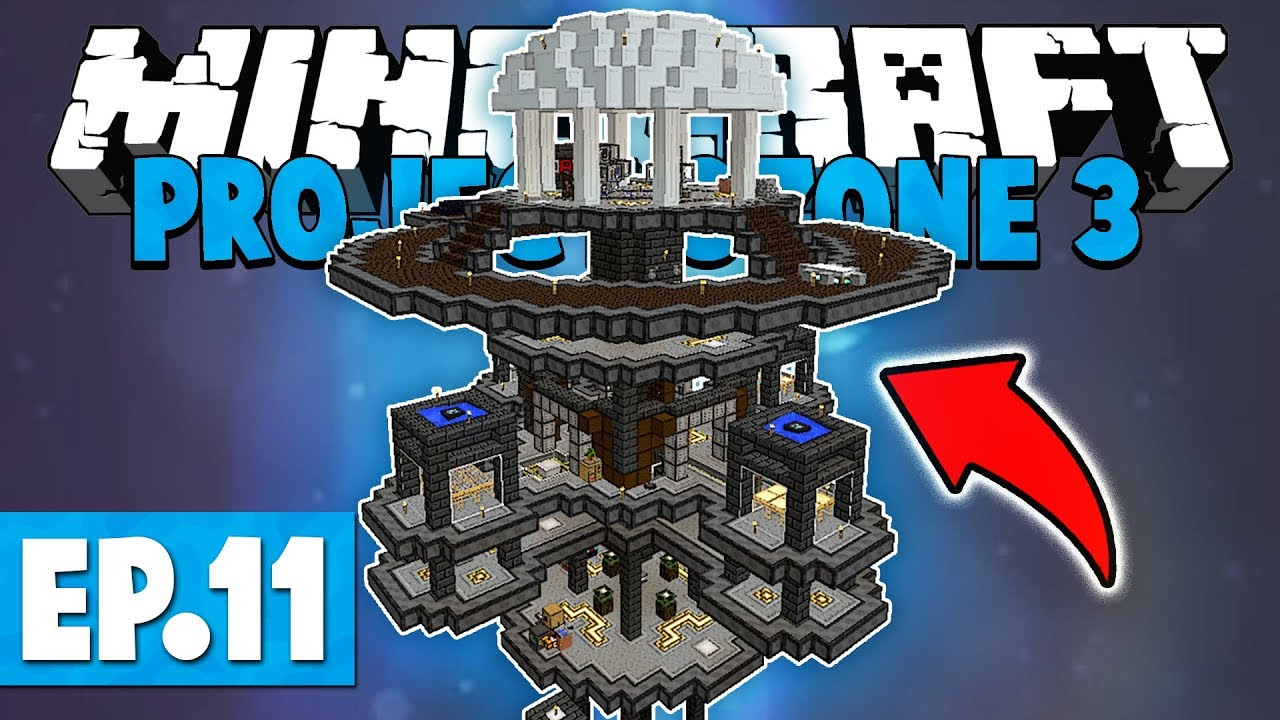 Minecraft Project Ozone 3 | NEW BASE & IMAGINARY TIME BLOCK! #11 [Modded  Skyblock]