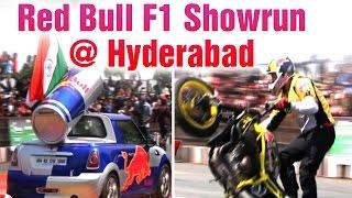 Red Bull F1 Showrun at Tank Bund Road in Hyderabad - David Coulthard  (05-04-2015)