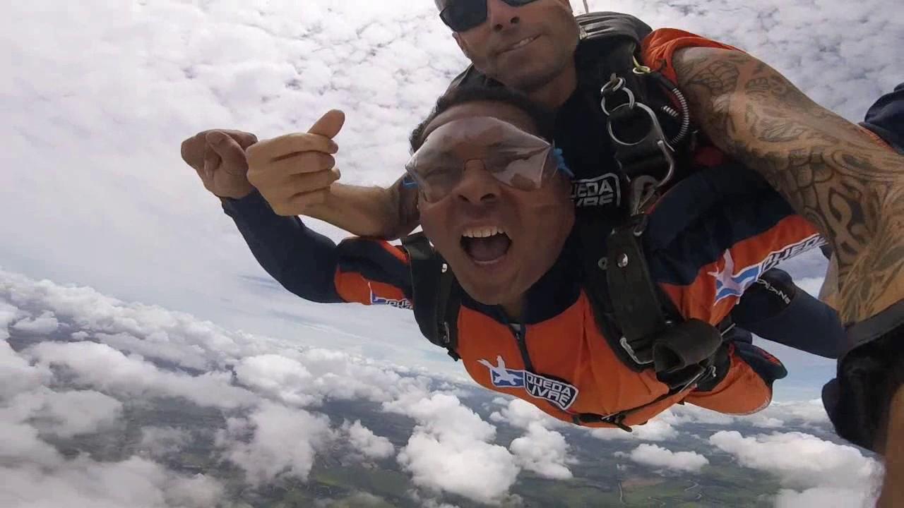 Salto de Paraquedas do Jurandir na Queda Livre Paraquedismo 07 01 2017