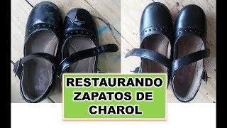 RESTAURANDO ZAPATOS DE CHAROL PARA NINAS