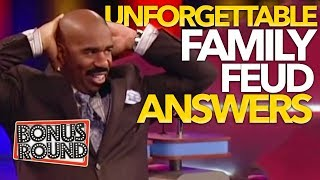 UNFORGETTABLE FAMILY FEUD Answers \u0026 Steve Harvey Funny Moments On Family Feud USA!