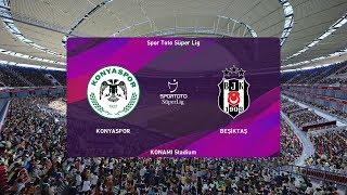 Konyaspor vs Besiktas   Turkey Super Lig   23 November 2019   PES 2020