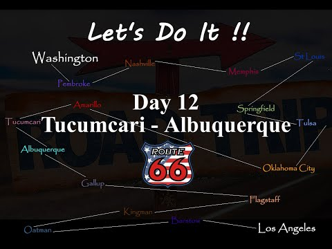 American Road Trip, Route 66, Day 12, Tucumcari to Albuquerque