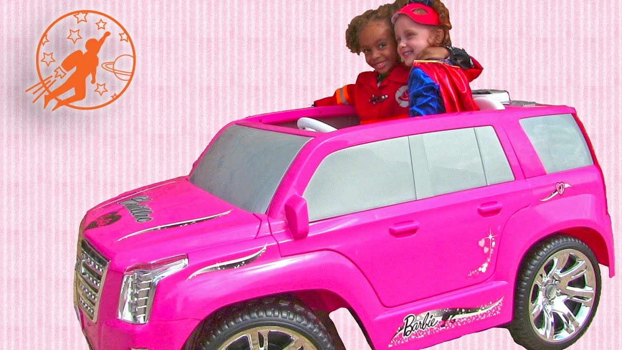 Girls Power Wheels and Pink Ride On Cars - Barbie Car ...