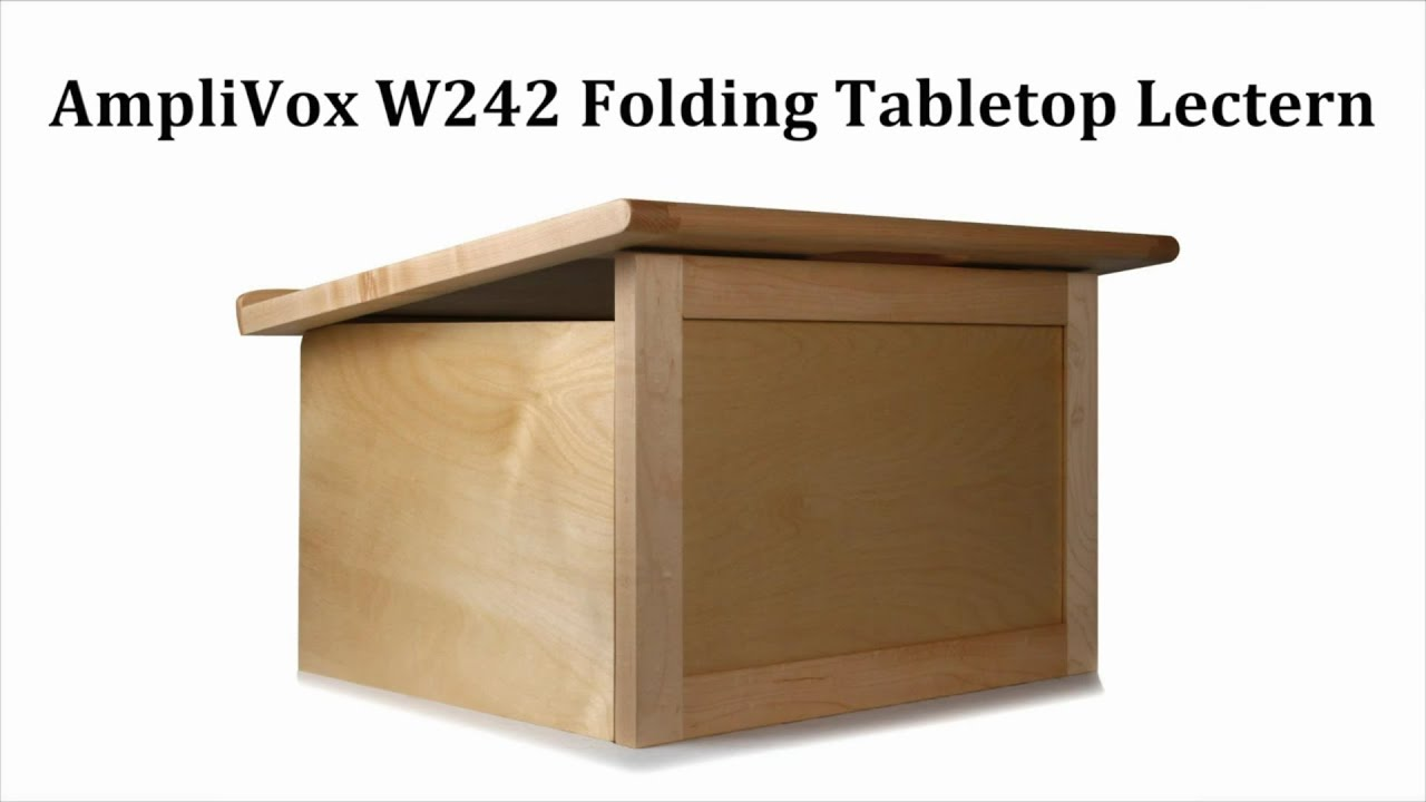W242 travel lite folding tabletop lectern youtube malvernweather Image collections