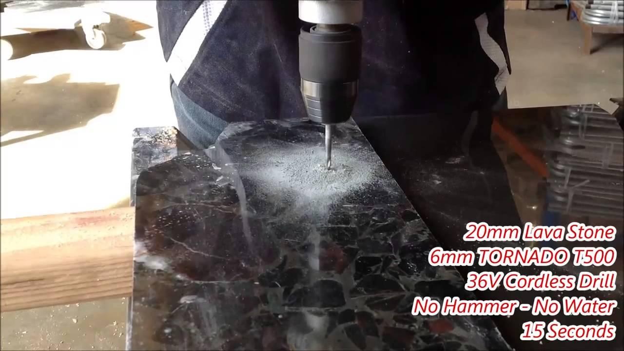 T500 Porcelain Drill Bit Drills Through Granite In Seconds