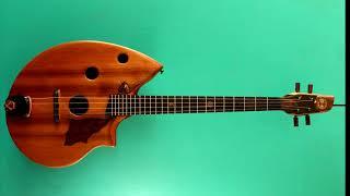 Shell back baritone ukulele made by Ray Vincent. Sound sample demo.