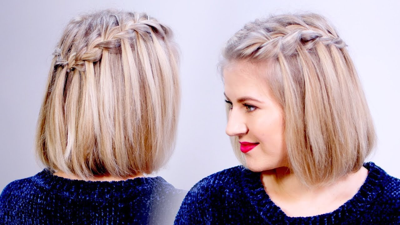 Hair Styles For Braids Pictures: HOW TO: Waterfall Braid Crown Hairstyle For Short Hair
