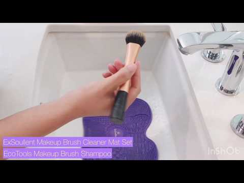 Most Easy Way to Clean Makeup Brushes ft. ExSoullent & Ecotools Makeup Brush Cleaner