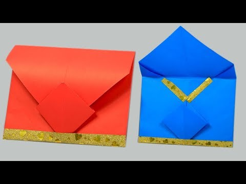 Easy origami envelope tutorial - How to make an envelope - DIY Paper Crafts